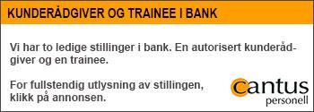 Ledig jobb i bank