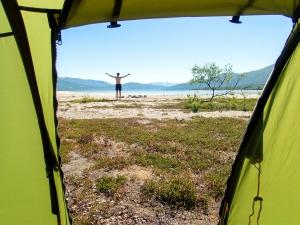 Ferske teltturister advares mot grilling og aggregater i forteltet